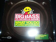 Big Bass vs. Michelle Narine – What You Do (Playing With Stones) EU CD Single –