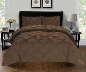 1500 Thread Count Egyptian Quality 3-Piece Pintuck Design Duvet Cover Set