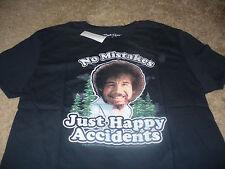 Bob Ross Men's KO Vintage TV Painter Black T-Shirt Size Medium M