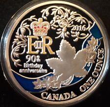 "Piece Canada 2016 "" 90e Anniversaire De La Reine Elizabeth II """