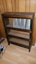 Antique Lundstrom / Lawyers Bookcase Solid Oak 3 Stack Bookcase Circa 1925