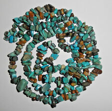 Real-Turquoise-Loose-Pebble-Chip-Beads-30-Inch-Std-Craft-or-Jewelry  # E54