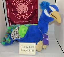 SPECIAL OFFER! 2017 Charlie Bears Bearhouse COLUMBO Peacock RRP £48 (Brand New!)
