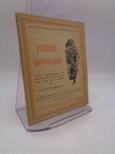 """Claude Roger-Marx : Pierre Bonnard  Gallimard """"peintres nouveaux"""" 1924"""