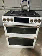"""Ge Cgs750P4Mw2 30"""" Cafe Matte White Double Oven Works Perfect."""