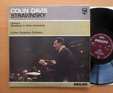 Al 3490 Colin Davis Sinfonía Stravinsky Orfeo en 3 movimientos casi nuevo Mono