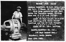 RP Postcard General Electric 30 HP Motor For Sale Mitchell, South Dakota~115793