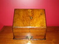 Antique Victorian Mahogany Stationary Cabinet or Box w/ Brass Hardware