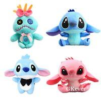 10pcs Lilo & Stitch Plush Keychain Scrump Angel Plushies Pendant Toys Cute Dolls