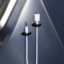8PCS Car Charger Line Headphone/USB Cable Car Clip Interior Accessories New FT