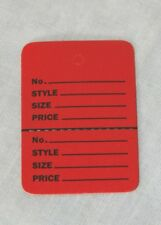 1000 RED Small (1.1/4 x1.7/8) Perforated Unstrung Price Consignment Store Tags