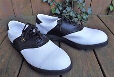 Men Stylo Golf Shoe Light Weight Dry-Lite Wingtip oxford 6200 Black White Men 13