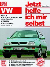 VW GOLF 3 + VENTO REPARATURANLEITUNG JETZT HELFE ICH MIR SELBST 154 WARTUNG
