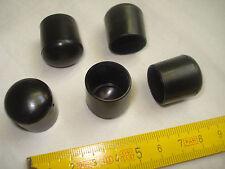 16 patins de chaise table  embouts PVC noir pour tube  diamètre 18 mm