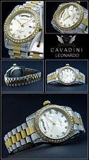 "Leonardo A. D. Hause Cavadini Case & Band Solid Stainless Steel "" Bi-Colour """