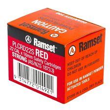 Ramset POWER LOAD CARTRIDGE Suits Jobmaster Nail Gun, RED *Australian Brand