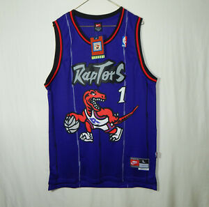 NWT Tracy McGrady Toronto Raptors NBA Basketball Jersey Nike Hardwood Classics L