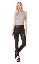 NWT $995 Rag & Bone Simone Lambskin Leather Pant in Black sz 6/S M