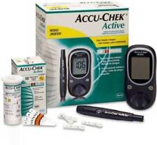 Accu-Chek-Active-Diabetes-Monitor-with-10-Test-Strips-Glucometer-free-shipping