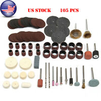 105Pc Drill Kit Rotary Power Tools Polishing Cutting Grinding Accessory Sets BJ