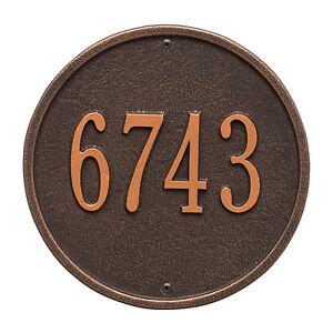 "Round 9"" Diameter Personalized Address Plaque"
