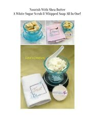 Exfoliating Sugar & Shea Butter Sugar Scrub/Whipped Soap-Buy 3 Get 1 Free
