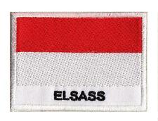 Patch écusson patche brodé à coudre drapeau région Alsace Elsass 70 x 45 mm