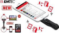 Emtec iCobra2 iPhone Flash Drive 64GB 3in1 Black, Dual Connector USB 3.0 &......