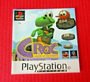 Croc Legend of the Gobbos PS1 Manual Only Platinum Replacement ps1 Playstation