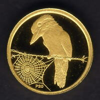 Australia. 2009 (2008) 1/20th oz Gold Kookaburra ($5).  Perth Mint Issue - Proof