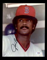 Jim Rice PSA DNA Coa Hand Signed 8x10 Photo Autograph