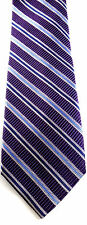 Jos A Bank Necktie Tie Silk Purple Striped Hand Sewn