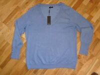 New with Tags Blue Jumper, M&Co UK Size 20
