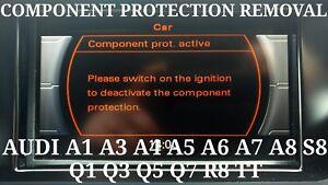 AUDI COMPONENT PROTECTION ACTIVE REMOVAL SERVICE R8 TT Q1 Q3 Q5 Q7 SQ5 SQ7