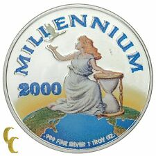2000 Millennium 1 oz .999 Silver Liberty $20 Republic of Liberia Coin w/ Box