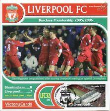 Liverpool 2005-06 Birmingham (Sami Hyypia) Football Stamp Victory Card #532