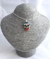Pendant Woman Skull New Jewellery Style Retro Pin Up Rockabilly Goth Punk