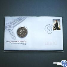 2006 UNC 50c Queens 80th Birthday Overprint Limited Edition PNC CERT: 1672