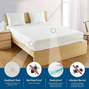 Soft + Flexible BED BUG PROOF Waterproof Zipper Vinyl Mattress Cover ENCASEMENT
