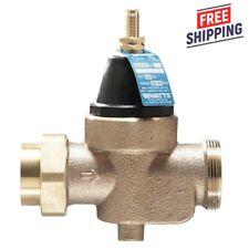 Watts Water Pressure Reducing Valve 34 Lfn45bm1 U Lead Free Brass Reducer New