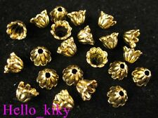 250pcs Antiqued gold plt Flower bead caps A600