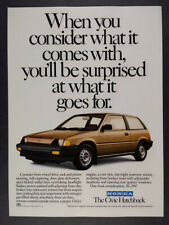 1985 Honda Civic Hatchback vintage print Ad