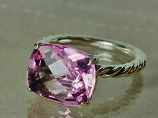David Yurman Color Classics Ring with 9x12mm Pink Topaz, size 5