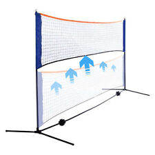 Portable Removable Badminton Beach Volleyball Tennis Training Net w/ Carry Bag