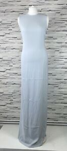 CALVIN KLEIN Grey Shift Maxi Dress Size 12 Sleeveless Party Occasion Formal