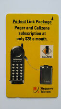 SINGAPORE PHONE CARD CALL ZONE PAGER MOBILE PHONE #2