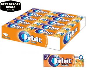Wrigley's Orbit Orange (Naranja) Sugar Free Chewing Gum- 30 x 14g- BBE 16/04/21