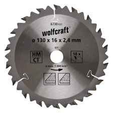 Wolfcraft 6730000 130 x 16 x 2.4mm CT Circular Saw Blade with 18 Teeth - Brown S