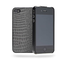 Cygnett Skin Textured Slim Case Cover Shell For iPhone 4/4S - Grey NEW
