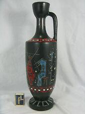 """Rare 60´s italian surrealistic  """"Alla Moda""""  design pottery  Keramik vase 41 cm"""